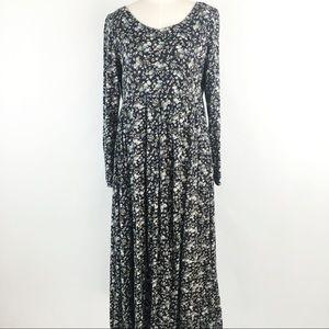 [VTG] LS Soft Cotton Floral Maxi Dress